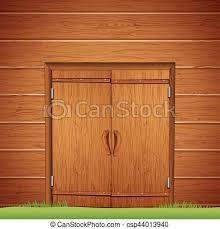 wooden barn door vector image