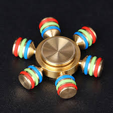 details about fidget hand spinner diy hexagon metal brass desk toy edc adhd autism kids