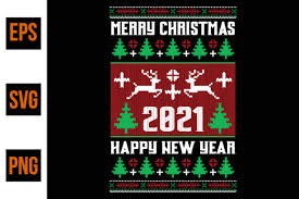 Merry Christmas 2021 Graphic By Ajgortee Creative Fabrica