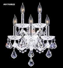 91705s11 maria theresa grand crystal wall sconce in silver james moder