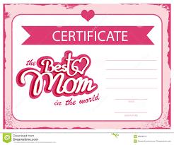 template vector certificate best mom