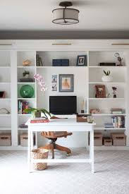 office makeover reveal ikea hack built in billy bookcases bookcases for home office