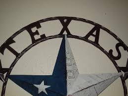 Metal Star Wall Decor Texas Barn Star License Plate Metal Wall Western Home Decor New