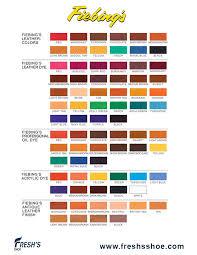 Fiebings Leather Dye Color Chart Freshs Shoe Store