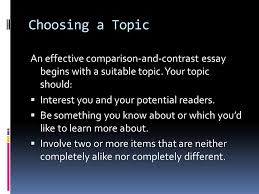 comparison and contrast ppt 9 choosing a topic