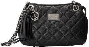 Lyst - Calvin klein Quilted Leather Tassel Crossbody in Black &  Adamdwight.com