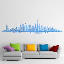 wall sticker dubai skyline muraldecal com