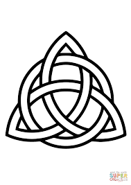 Printable Celtic Knot Designs Celtic Triquetra Circle Interlaced Coloring Page Free