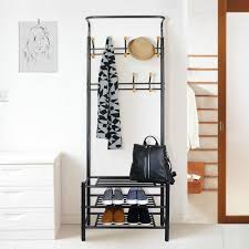 Coat Rack Bench With Mirror Mesmerizing Small Coat Rack 32 Best Hallway Furniture Set Shoe Storage Bench