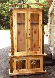 Gun cabinet.Or fit it with shelves and have a rustic display ...