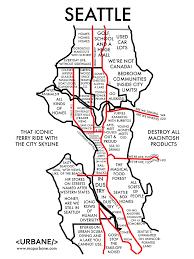Stereotype Map Of Seattle Washington State