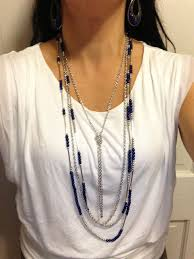 Premier Designs Special Day Necklace Combo Of The Day True Blue Necklace With One Strand