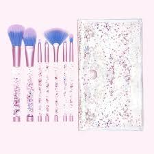 aquarium liquid glitter makeup brush set pouch by lime crime