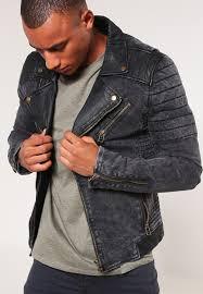 biker leather jacket black goosecraft
