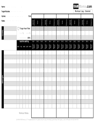 Free Printable Workout Log Sheets - Fill Out Online Forms ...