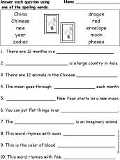 chinese new year spelling word questions com spelling words