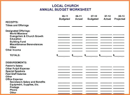 Church Budget Template Excel Church Budget Template Excel Hopsell Co