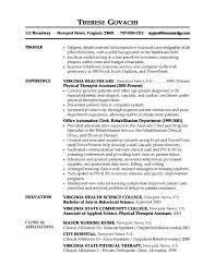 Entry Level Resume Objective Resume Objective For Medical Field Resume Receptionist Resume 60