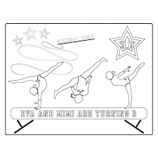 gymnastics coloring pictures pages beam gymnastic