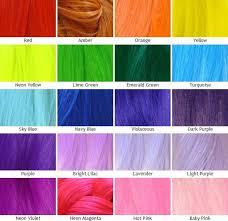 Shades Of Purple Hair Dye Chart Unnatural Hair Dye Color Chart Google Search Hair Dye