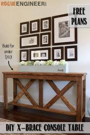 Diy entry table plans Shelf Farmhouse Console Design Homebnc 37 Best Entry Table Ideas decorations And Designs For 2019