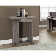 modern console table accent shelf drawer entryway storage wood sofa hall display