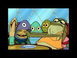 spongebob characters fish with big lips