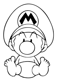 Mario Coloring Pages Mario In Mario Kart Wii Coloring Page Free