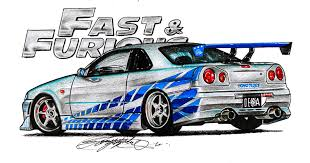 nissan skyline fast and furious drawing. My New Drawing Nissan Skyline From Fast And Furious Hope You Like It With Car Throttle