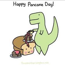 pancake clipart. happy pancake day dinosaur eating clipart