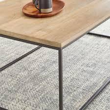 streamline coffee table whitewash
