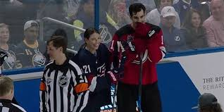 Brian Boyle was intimidated following Hilary Knight in the NHL Skills  Accuracy Competition and for good reason