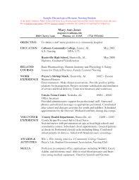 Graduate Nursing Resume Examples 5 Example Student Nurse Free
