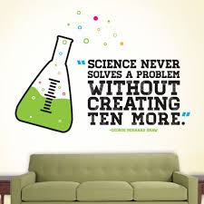 science problems wall decal quotes
