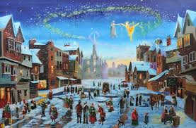 Image result for winter scene painting
