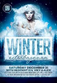Elegant Winter Party Flyer Template