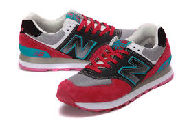 new balance shoes red and blue. new balance 574 in grey red black blue - p872430 womens shoes, shoes and