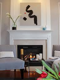 minimal decor modern living room fireplace