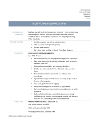 Maintenance Job Resume Sample Resume Welder Job Description Best Of Ironworker Resume 15