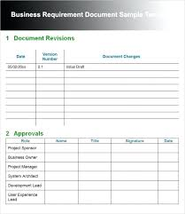requirements document template template business requirements document personal business