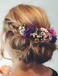 Wedding Hair With Flowers And Braid Bridesmaids Drdol