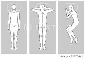 寝る姿勢のイラスト素材 35570642 Pixta