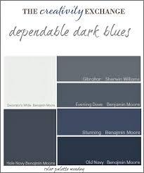 Wonderful Collection Of Dependable Dark Blue Paint Colors {Color Palette Monday} The  Creativity Exchange