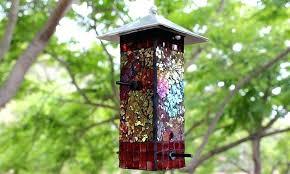 glass bird feeder mosaic bird feeder make recycled glass bird feeders