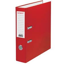 Купить <b>Папка</b>-<b>регистратор</b> STAFF, с <b>покрытием</b> из <b>ПВХ</b>, 70 мм ...
