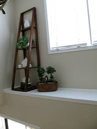 decorate a high ledge in a front foyer