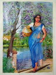 Ratan Dutta paintings indian village ...