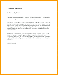Driver Cover Letters 17 Application Letter For Employment As A Driver Sopexample