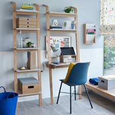 leaning ladder style desk and bookcase anton leaning desk