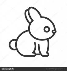 outline of bunny rabbit cartoon outline stock vector lukpedclub gmail com 148842175